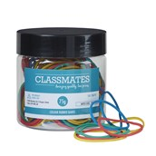 Classmates Rubber Bands 75g Assorted (Warning: May Contain Natural Rubber Latex)