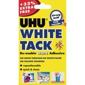 UHU® White Tack White  86.5g  - Pack of 12