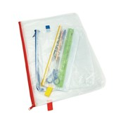 Heavy Duty Zip Wallet A3 Assorted - Pack of 5