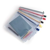 Heavy Duty Zip Wallet A4 Assorted - Pack of 5