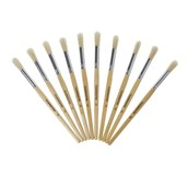 Classmates Short Round Paint Brushes - Size 12 - Pack of 10