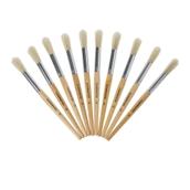 Classmates Short Round Paint Brushes - Size 18 - Pack of 10