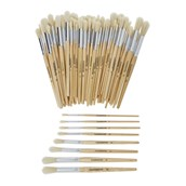 Classmates Short Round Paint Brushes - Assorted - Pack of 100