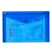 Snopake Electra Polyfile Wallet Foolscap Blue - Pack of 5