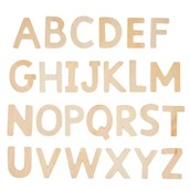 Plain Wood Letters Uppercase - Pack of 60