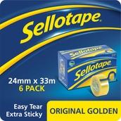 Sellotape Original - 24mm x 33m - Pack of 6