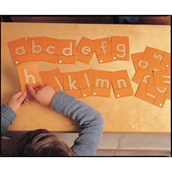 Tactile Sandpaper Letters Print Style - Pack of 28
