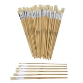 Classmates Long Flat Paint Brushes - Assorted Sizes - Pack of 60