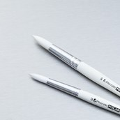 Pro Arte Polar White Nylon Brushes - Round - Size 6 - Pack of 30
