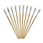 Classmates Long Flat Paint Brushes - Size 14 - Pack of 10