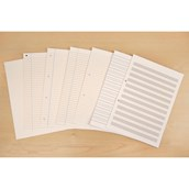 """8"""" x 6.5"""" Exercise Paper, 8mm Ruled With Margin, Unpunched - 5 Reams"""