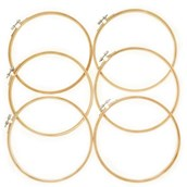 Wood Embroidery Hoops - Pack of 6