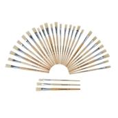 Classmates Short Flat Paint Brushes – Assorted Sizes - Pack of 30