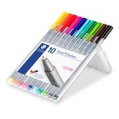 Staedtler Triplus 334 Fineliner Pen Assorted - Pack of 10