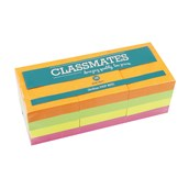 Classmates Sticky Notes - Assorted Neon - 40 x 50mm - Pack of 12