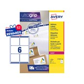 White Avery Jam-Free Quick PEEL Labels - 6 Labels, 99.1 x 93.1mm