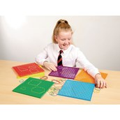 Double - Sided Geoboards Pack of 6
