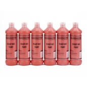 Classmates Ready Mixed Paint - 600ml - Brilliant Red - Pack of 6