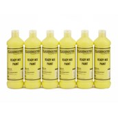 Classmates Ready Mixed Paint - 600ml - Brilliant Yellow - Pack of 6