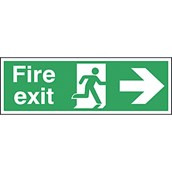 Fire Exit Safety Signs - 150 x 450mm S/A
