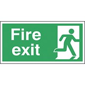Safety Signs - Fire Exit Right - 150 x 300mm S/A