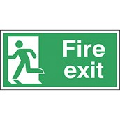 Safety Signs - Fire Exit Left - 150 x 300mm S/A