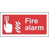 Safety Signs - Fire Alarm - 200 x 400mm S/A