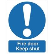 Safety Signs - Fire Door Keep Shut - 100 x 75mm S/A