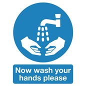 Wash Hands Safety Signs - 210 x 148mm S/A