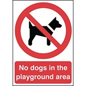 General Signs - No Dogs - 297 x 210mm POL