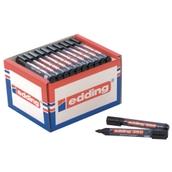 Edding 360 Whiteboard Marker Black, Bullet Tip - Pack of 50