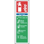 Safety Signs - Fire Extinguisher Powder - 280 x 90mm S/A