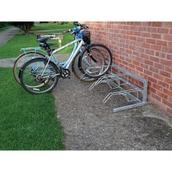 Free Standing Single Side Cycle Rack - 4 Cycle