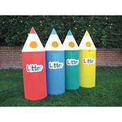 Midi Pencil Bin With Letters - Assorted