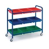 Storage Trolley with Plastic Trays