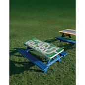 Junior Gameboard Picnic Bench - Playtown Top -Blue
