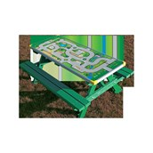 Junior Gameboard Picnic Bench - Play Town Top - Green