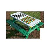 Junior Gameboard Picnic Bench - Board Game Top - Green