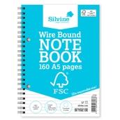 Silvine FSC Notebooks - A5 - Pack of 5
