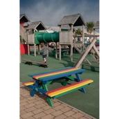 Junior Recycled Plastic Picnic Table - Rainbow