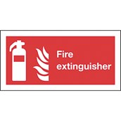 Safety Signs - Fire Extinguisher - 100 x 200mm S/A