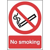 Safety Signs - No Smoking - 210 x 148mm S/A
