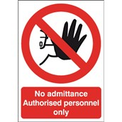 Safety Signs - No Admittance -210 x 148mm S/A