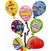 Jumbo Paper Balloon Shapes - Pack of 20