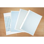 A4 Graph Paper, 2, 10 and 20mm Squared, 2 Hole Punched - 1 Ream