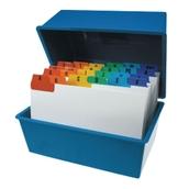 Deflecto Card Index Box - Blue - 203 x 127mm