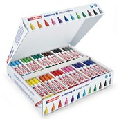 Edding Colour Markers Assorted, Bullet Tip - Pack of 144