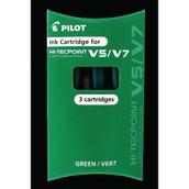 Pilot Hi-Tecpoint V5 & V7 Refills - Green - Pack of 3