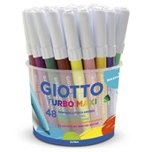 Giotto Turbo Maxi Colour Pens - Pack of 48