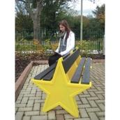 6 Seat Star Bench - Yellow